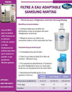 Image sur Filtre à eau adaptable Samsung et Maytag- APP100/1